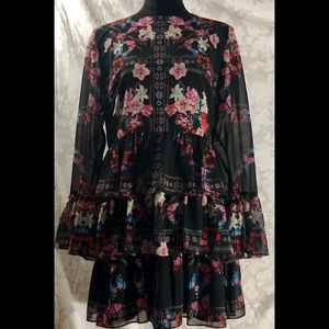 Bebe Multi color flower print dress